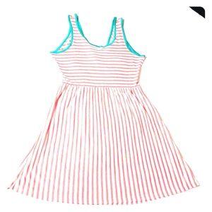 JJ Authentic Peach Striped Sun Dress XL